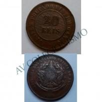 MBZ 811 - Moeda 20 Réis - Bronze - 1908 - MBC