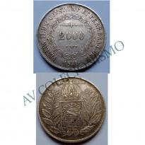 MAR 443 - Moeda 2000 réis - Prata - 1851 - SOB