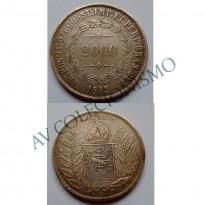 MAR 444 - Moeda 2000 réis - Prata - 1852 - SOB