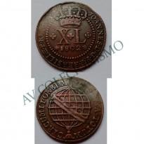 MCU 369 - Moeda XL réis - 1802 - Coroa Alta - MBC/SOB