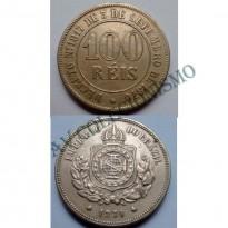 MNI 005 - Moeda 100 réis - Niquel - 1871 - SOB
