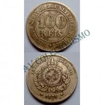 MNI 007 - Moeda 100 réis - Niquel - 1874 - SOB
