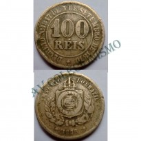 MNI 009 - Moeda 100 réis - Niquel - 1876 - Escassa - MBC