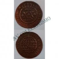 MCU 365A - Moeda XX Réis - 1803 - Coroa Baixa - MBC - Rara