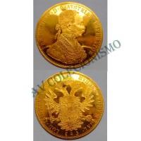 MES - AUS2276 - 4 Ducado - Austria - 1915 - Ouro