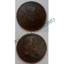 MBZ 793 - Moeda 40 Réis - Bronze - 1876 - MBC - Escassa