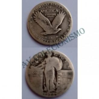 MES - USA - Km145 - Quarter Dollar - Estados Unidos da América - 1926 - Prata