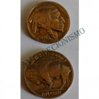 MES - USA - Km134 - Five Cent - Búfalo - Estados Unidos da America - 1936 - Cobre-Niquel