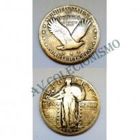 MES - USA - Km145 - Quarter Dollar - Estados Unidos da América - 1927 - Prata