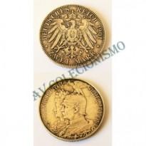 MES - ALE-GST525 - 2 Mark - Alemanha - Prússia -1901