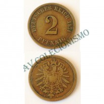 MES - ALE-GEM - Km002 - 2 Pfennig - Alemanha - 1874A