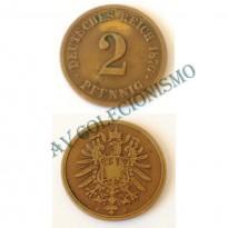 MES - ALE-GEM - Km002 - 2 Pfennig - Alemanha - 1876F