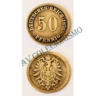 MES - ALE-GEM - Km006 - 50 Pfennig - Alemanha - 1876A