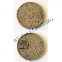 Moeda Alemanha - GEM - Km019 - 5 Pfennig - 1915A