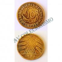 MES - ALE-GWR033 - 10 Pfennig - Alemanha - 1923D