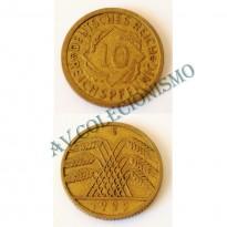 MES - ALE-GWR040 - 10 Pfennig - Alemanha - 1929E