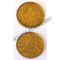 MES - ALE-GWR040 - 10 Pfennig - Alemanha - 1933J
