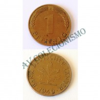 Moeda Alemanha - GFR - Km101 - 1 Pfennig - 1949J