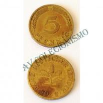 MES - ALE-GFR102 - 5 Pfennig - Alemanha - 1949G