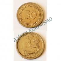 Moeda Alemanha - GFR - Km104 - 50 Pfennig - 1949G