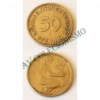 MES - ALE-GFR104 - 50 Pfennig - Alemanha - 1949J