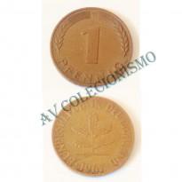 MES - ALE-GFR105 - 1 Pfennig - Alemanha - 1967G