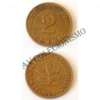 MES - ALE-GFR106 - 2 Pfennig - Alemanha - 1962F