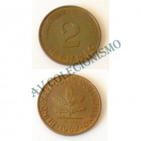 MES - ALE-GFR106 - 2 Pfennig - Alemanha - 1962G