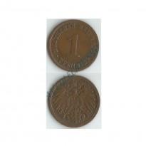 MES - ALE-GEM - Km010 - 1 Pfennig - Alemanha - 1901A