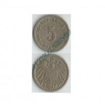 MES - ALE-GEM - Km011 - 5 Pfennig - Alemanha - 1894D