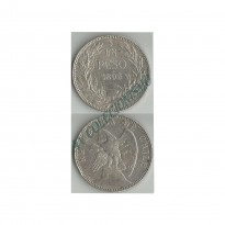Moeda Chile - Km152.1 - 1 Peso - 1895