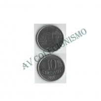 MRS 009A - Moeda 10 Centavos - 1994 - Reverso Invertido
