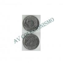 MRS 013A - Moeda 25 Centavos - 1994 - Reverso Invertido