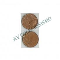 MRS 030A - Moeda 5 Centavos - 2001 - Reverso Invertido