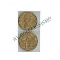 MES - AUT077 - 1 Dollar - Austrália - 1984