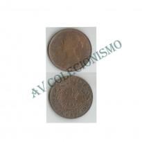 moeda canada - NWF - Km001 - 1 Large Cent - 1894 - Provincia de  NewFoundland