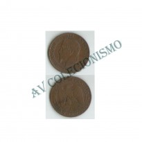 MES - FRA - KM0797.3 - 5 Centavos - Franca - 1862k