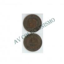 MES - FRA - KM0821.1 - 5 Centavos - Franca - 1885A