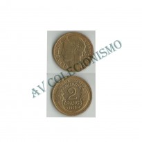 MES - FRA - KM0886 - 2 Francos - Franca - 1938