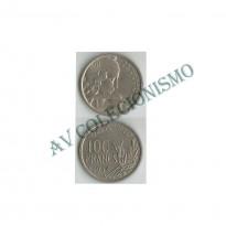 MES - FRA - KM0919.2 - 100 Francos - Franca - 1954B