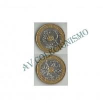 MES - FRA - KM1036 - 20 Francos - Franca - 1994 - Logo Olimpico