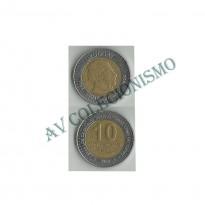 Moeda Uruguai - Km121 - 10 Pesos - 2000