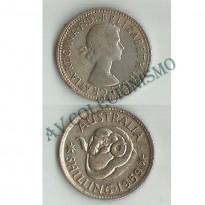 MES - AUT059 - 1 Shilling - Austrália - 1959
