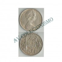 MES - AUT067 - 50 Cents - Austrália - 1966