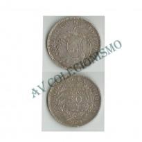 MES - BOL177  - 50 Centavos - Bolívia - 1909