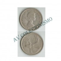MES - CAN - Km052 - 25 Centavos - Canada - 1956