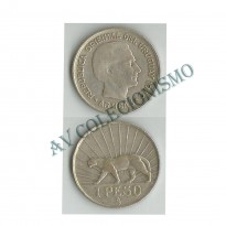 MES - URG - Km030 - 1 Peso - Uruguai - 1942