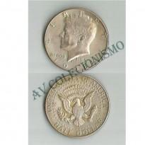 MES - USA - Km202a - Half  Dollar - Estados Unidos da America - 1968D - Silver Clad Coinage