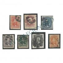Selos Império - 30 ao 36 - 1876 - Carimbos Mudo