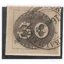 Selos Império - 01 - 30 Reis - Olho de Boi - 1843